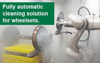 Fully automatic cleaning solution for wheelsets