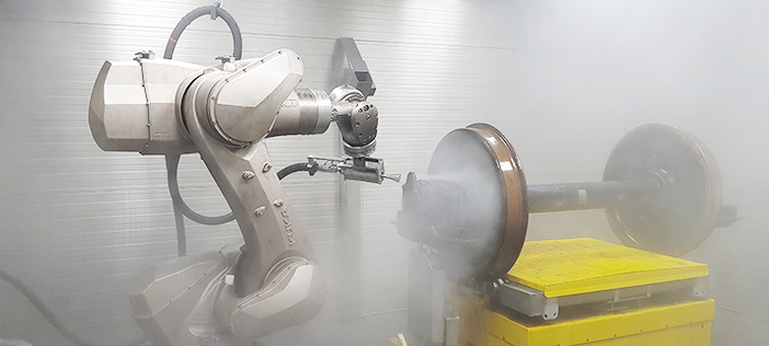 Automatic PURIMA cleaning solution for wheelsets