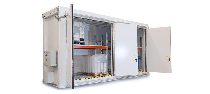 Fire-Rated Storage Containers for Drums and IBCs