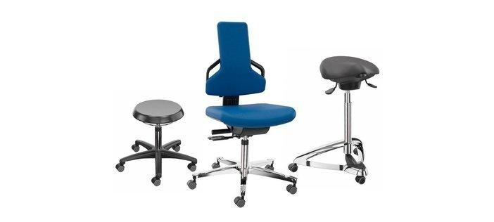 Work chairs, work stools and lean supports