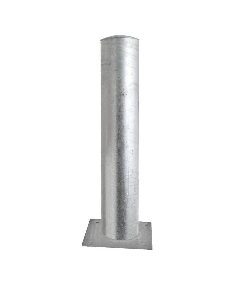 Barrier post in steel, hot dip galvanised, Ø 152, H 1000 mm, for use with anchor bolts,