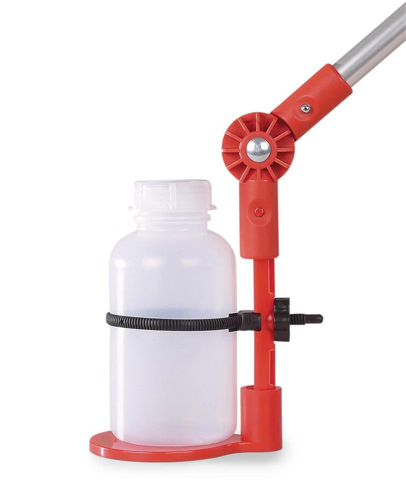Bottle holder in PP/PA for all bottles to Ø 88 mm, for telescopic rod, with 750 ml bottle