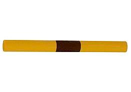 Cross beam f impact protection railings, galv., paint yellow, black warn stripes, Ø 48 mm W 500 mm