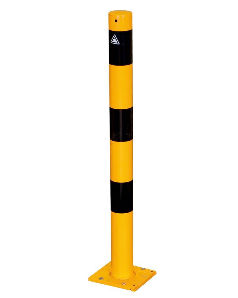 Removable barrier post galv. dm 76 mm, height 1000 m