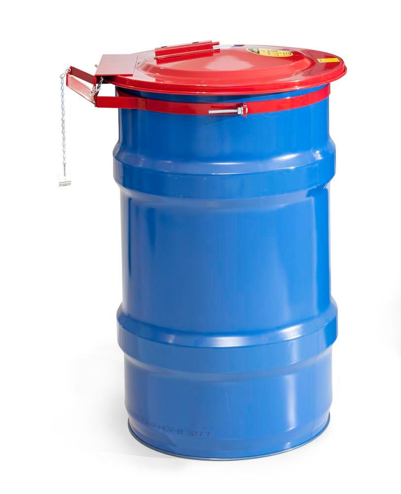 Safety drum lid for 120 litres steel drum with solder - 3