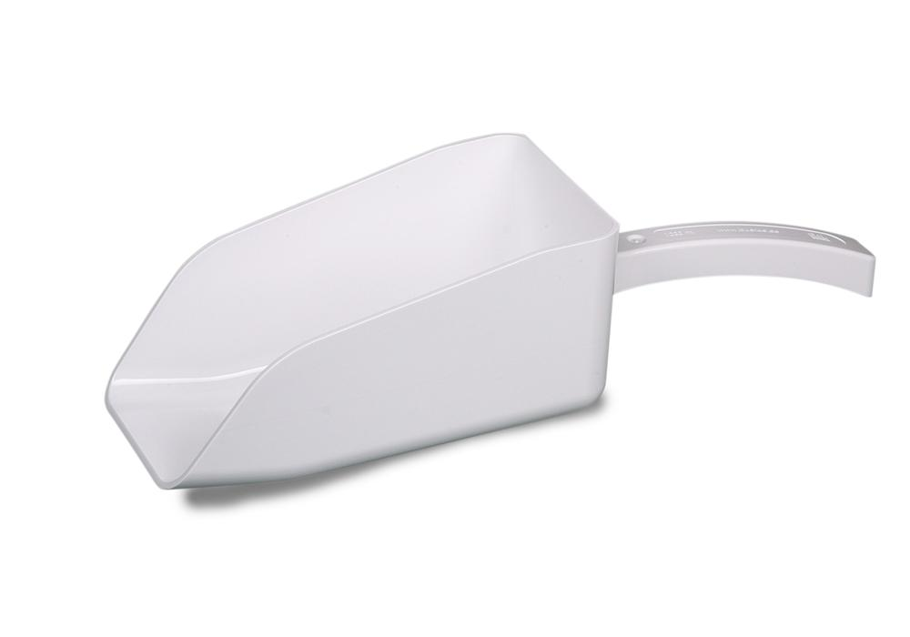 Sample scoop SteriPlast PS white, w/out cover, holds 1000 ml, individually packed/sterile,pack of 10