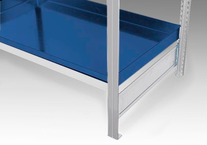 Spill pallet, painted, as additional shelf for containment shelving GRW 1060 / PRW 2060