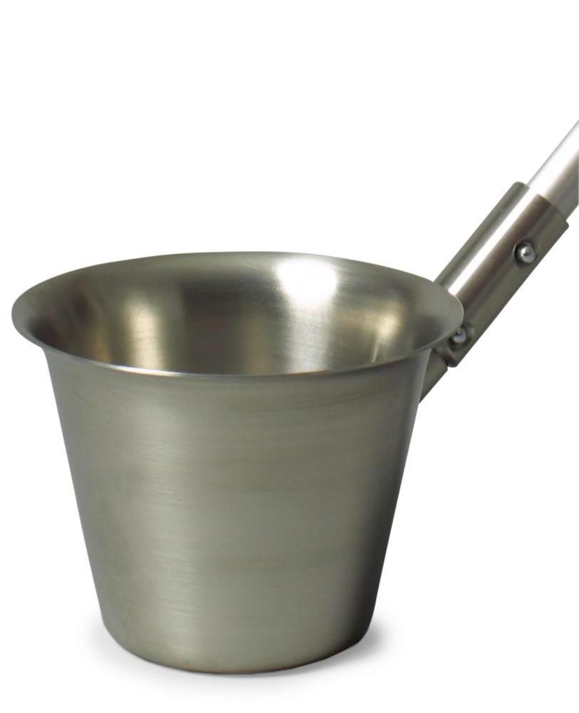 Stainless steel beaker V2A, 1000 ml, for telescopic rod, for sampling liquids