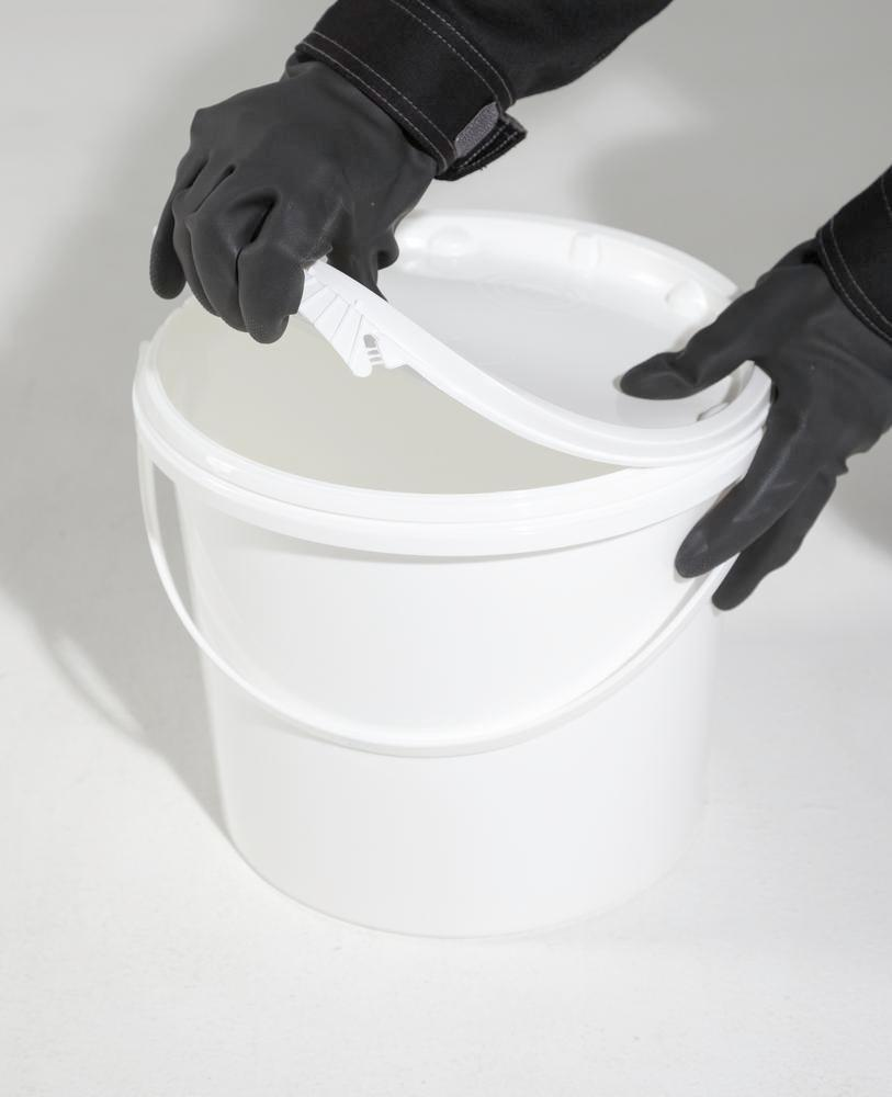 UN bucket in PP, 5.5 L, white with lid and plastic handle, Pack = 10 pieces - 3