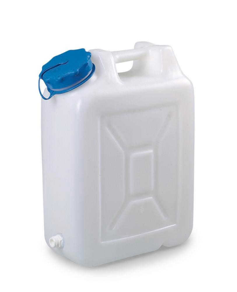 Wide-neck canister, 20 litres capacity, with thread spout