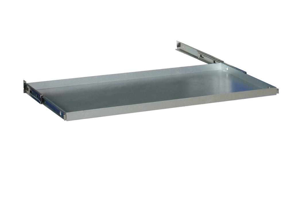 Additional shelf galv., with bearing mounted pull-outs for double door equipment cabinet W 1000 mm