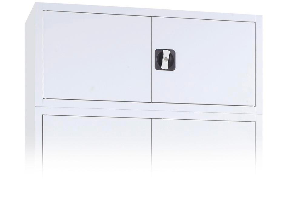 Additional unit for tool cabinets Ever, body and doors in grey, width 1200 mm