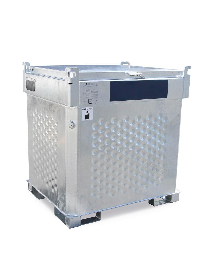 Double-walled mobile fuel diesel tank Model KI- D, 1000 litres, with 230 V pump and accessories - 1
