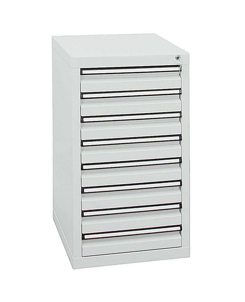 Drawer cabinet Model SDC 410, with 8 drawers, light grey, W 500 mm, H 900 mm