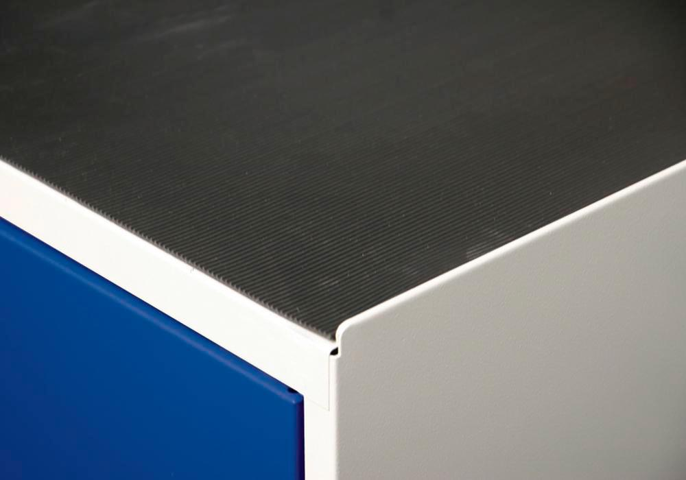 Grooved rubber cabinet mat, Series 2000, 1000 mm wide - 1