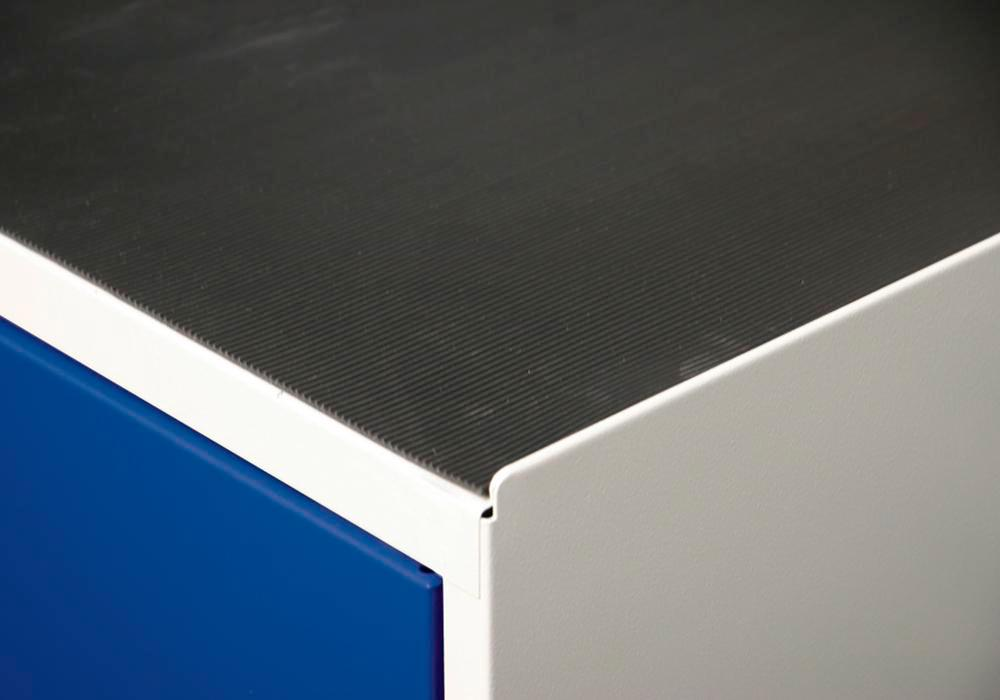 Grooved rubber cabinet mat, Series 3000, 1000 mm wide - 1