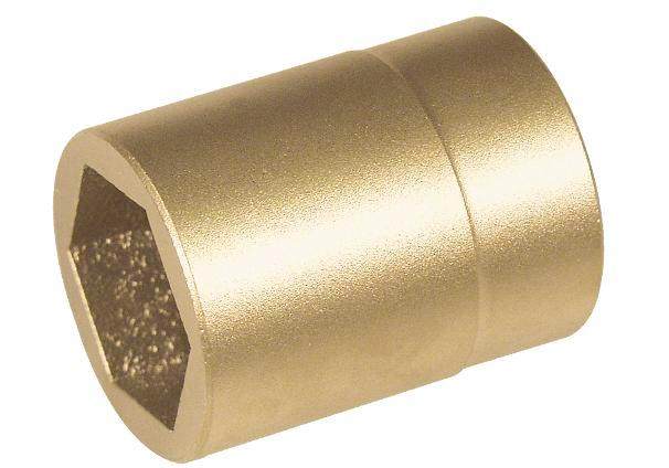 "Hex wrench socket, 1"" x 55 mm, special bronze, spark-free, for Ex zones"