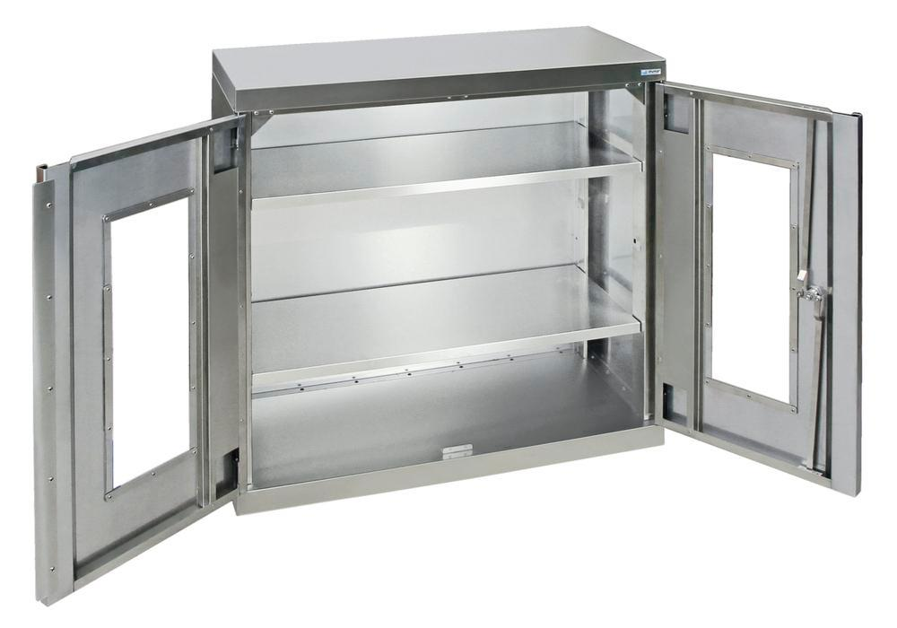 Material stainless steel cabinet Varianta W 900, D 400, H 900 mm, 2 shelves, Model 450-2