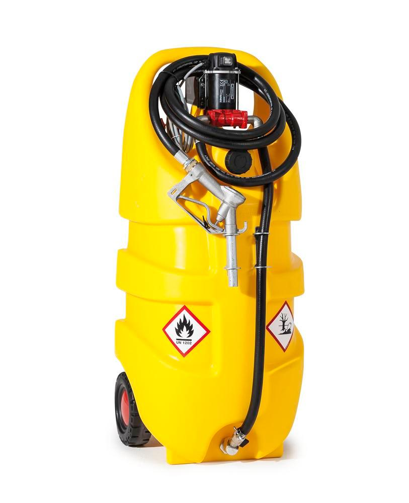 Mobile diesel fuel tank Model Caddy, 110 litre volume, with 12 V electric pump - 1