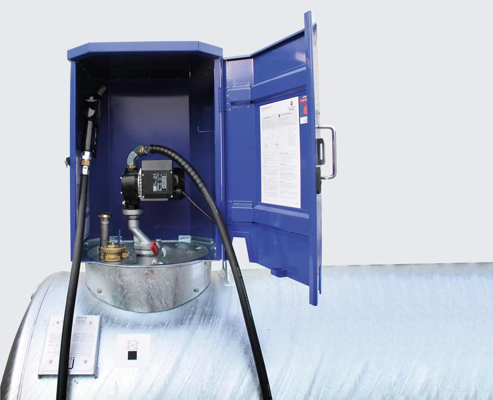 Mobile fuel container KC500-S f. diesel and heating oil, 500 litre, with 230V pump and accessories