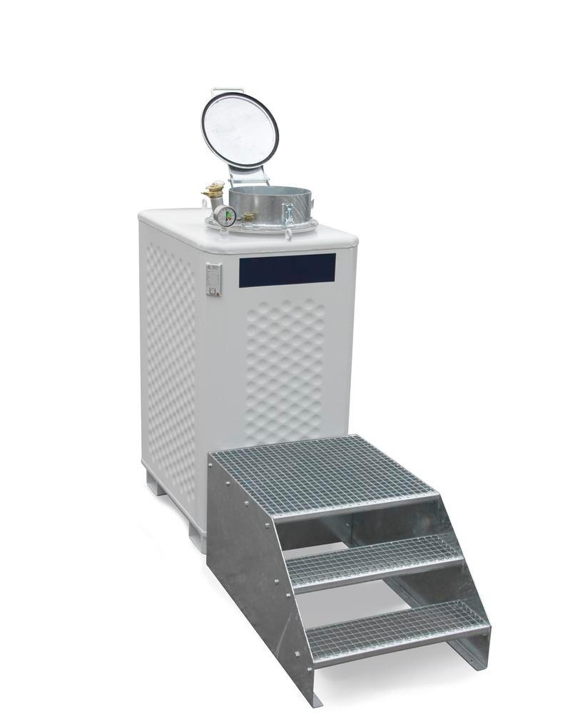 Multi collect container, painted, for liquids WGK 1-3 or flashpoint above 55° C, 2000 litre