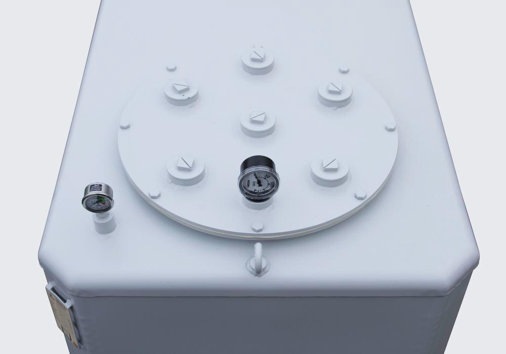 Multitank for water-polluting liquids with a flashpoint over 55 °C, galvanised, 1,300 litre
