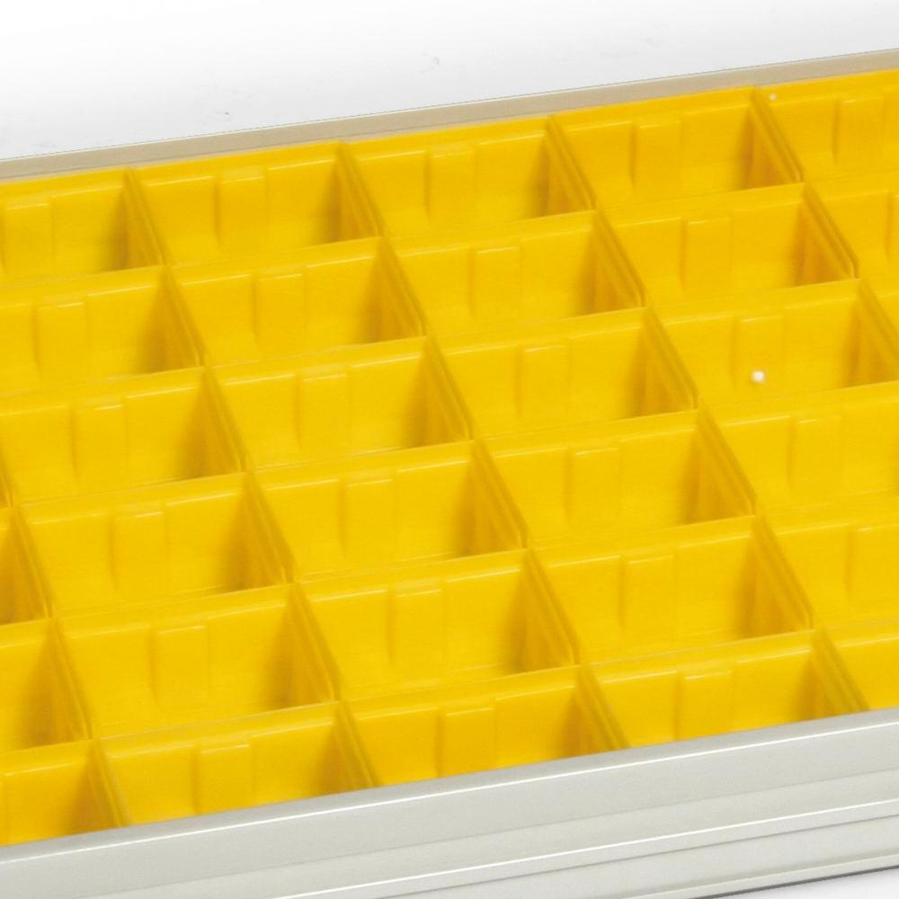 Set of plastic dividers for drawer from 950 mm wide equipment cabinet, single door - 1