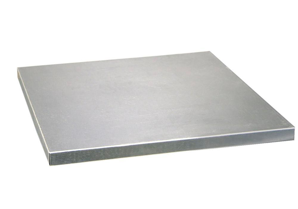 Shelf for roller shutter cabinet, 500 mm wide, galvanised - 1