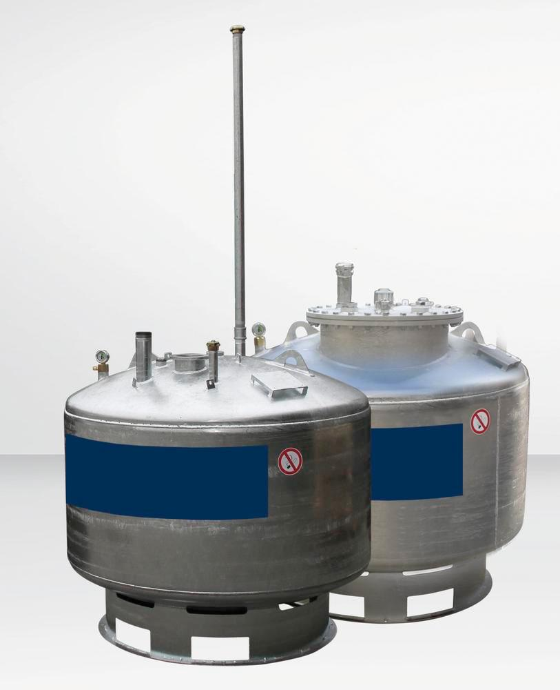 Storage tank Model LT for water-polluting liquids with a flashpoint below 55°C, 995 L