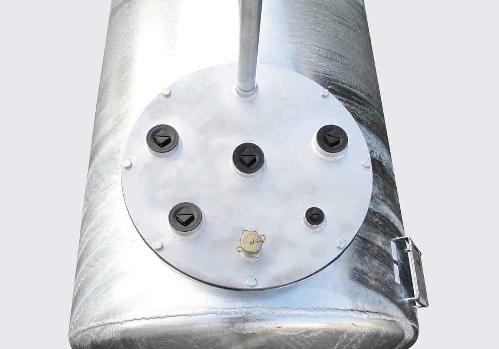 Storage tank Model LT for water-polluting liquids with a flashpoint over 55°C, 1,500 L