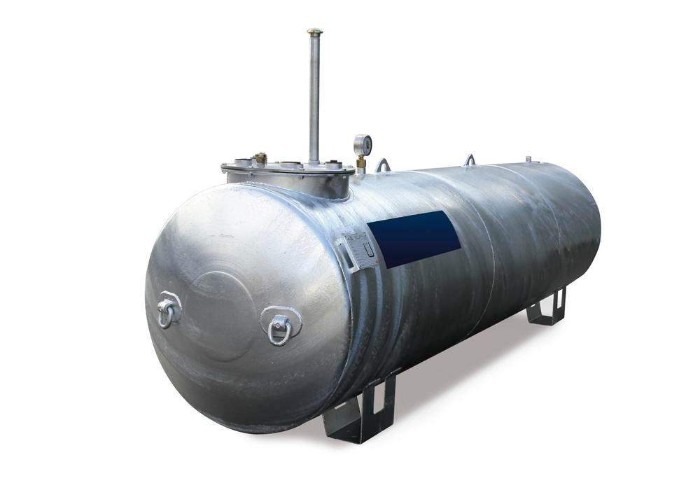 Storage tank Model LT for water-polluting liquids with a flashpoint over 55°C, 10,000 L