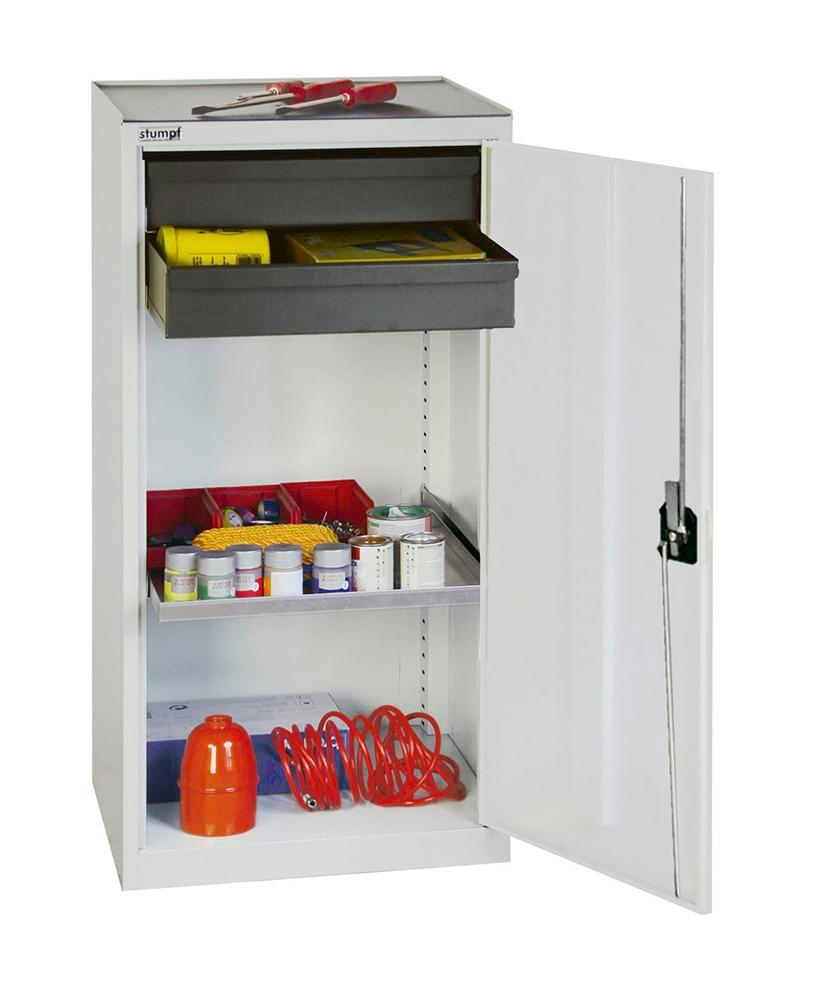 Tool and equipment cabinet Professional 3000, with 2 drawers high and low, 1 spill tray, grey