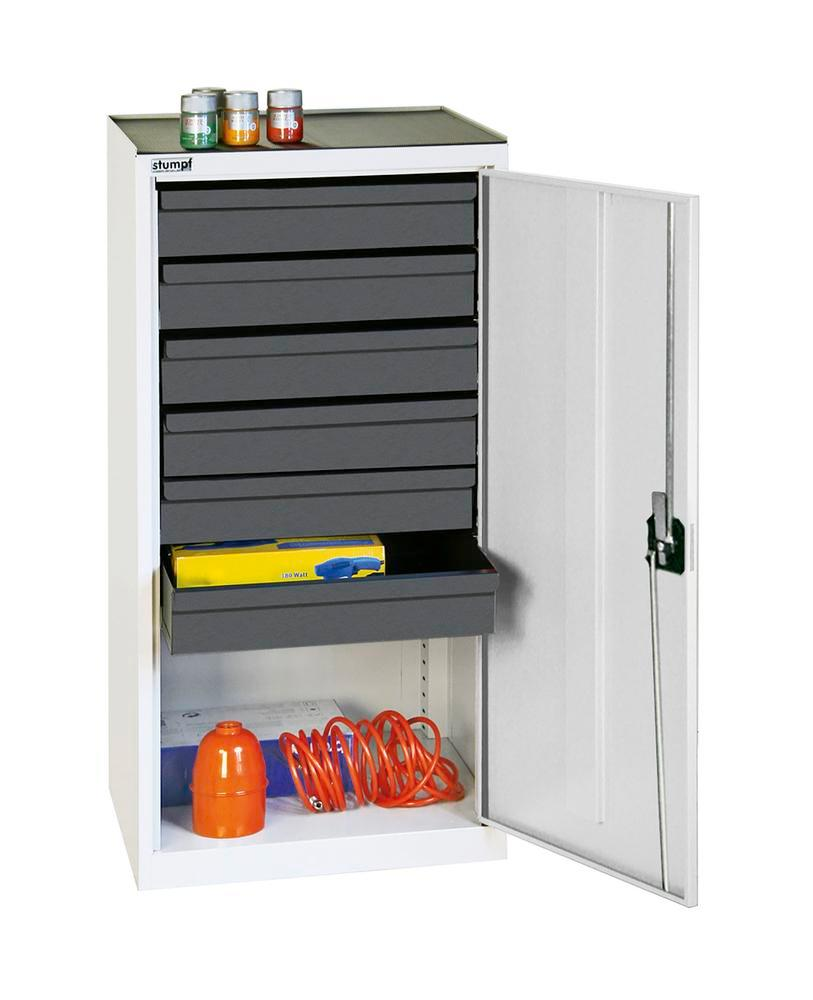 Tool and equipment cabinet Professional 3000, with 6 drawers, grey, W 500 mm