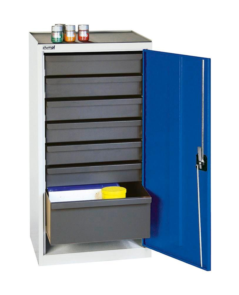 Tool and equipment cabinet Professional 3000, with 7 drawers, grey/blue, W 500 mm