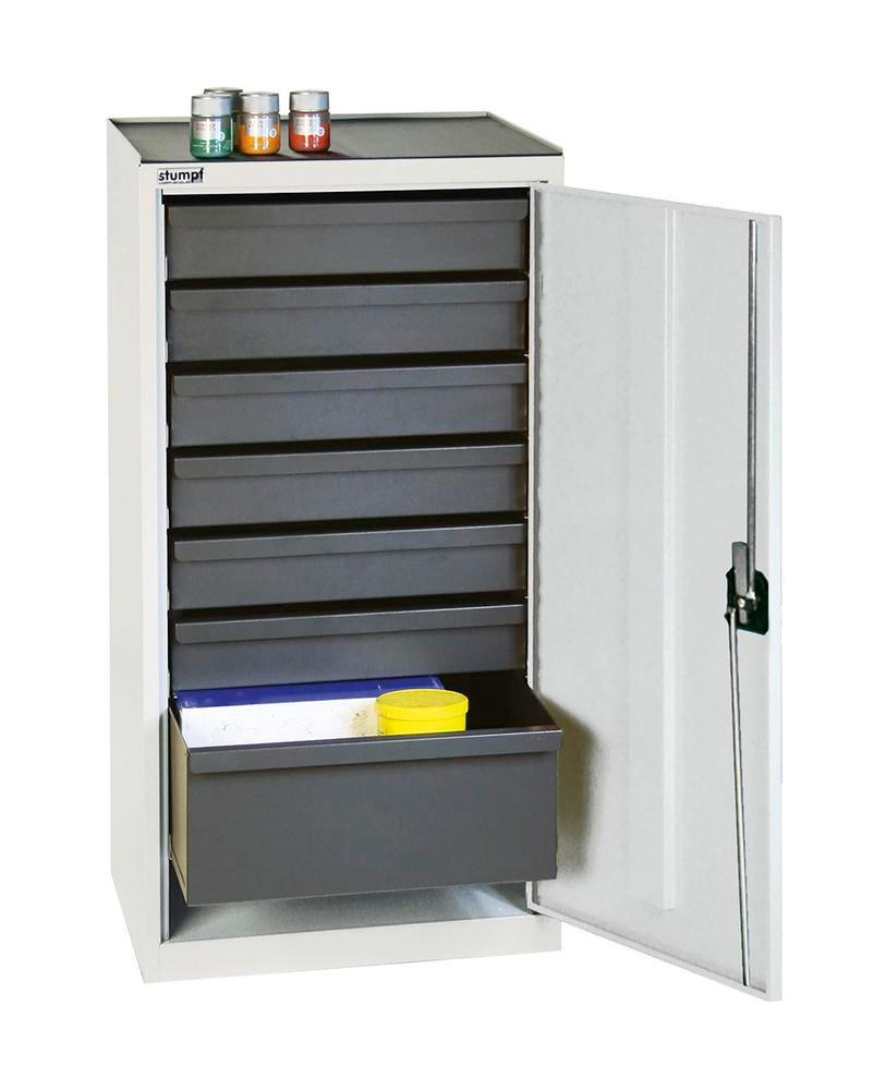 Tool and equipment cabinet Professional 3000, with 7 drawers, grey, W 500 mm