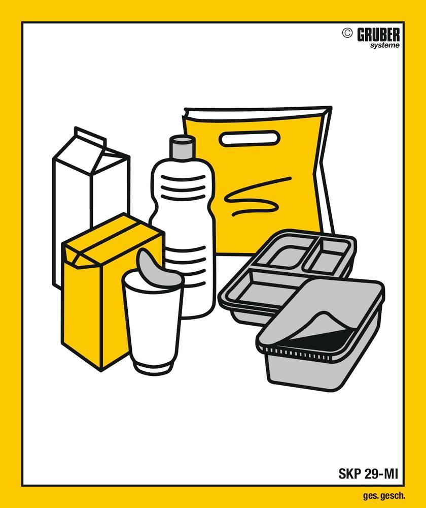 """10 labels with """"Plastic"""" pictogram, format 110 x 130 mm"""