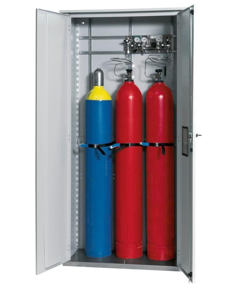 asecos gas cylinder cabinet LG 1000, single-walled, 1000 mm wide, grey