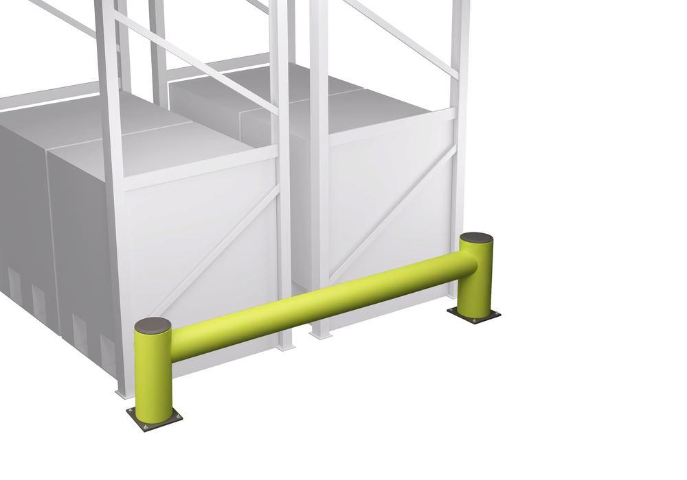 Castra impact protection in plastic, for shelving, colour lime, with one board, length 240 cm - 4