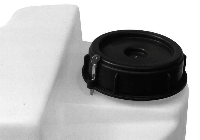 Clip fastener for storage and dispensing containers with a capacity from 40 to 1000 litres