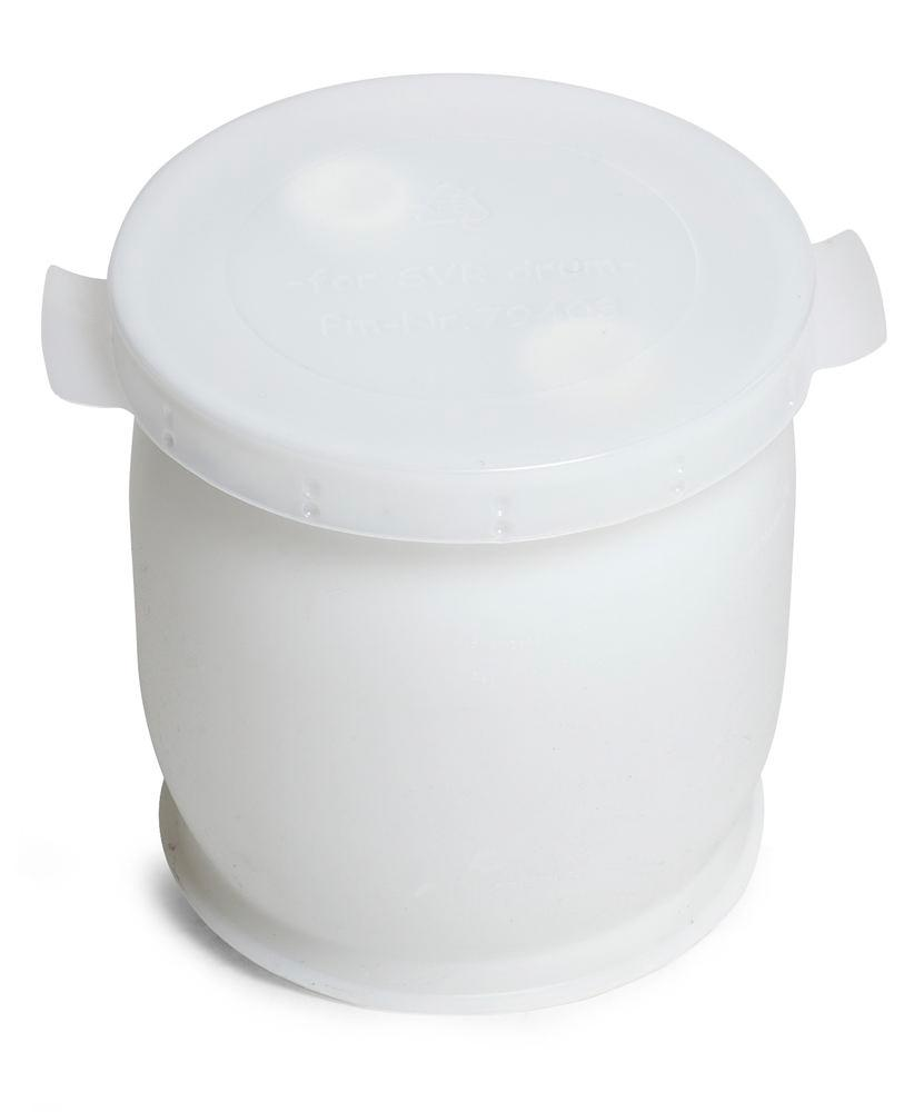 Drum lid in PE for 60 litre drums, transparent
