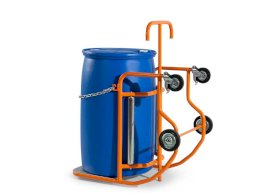 Drum tipper Secu Plus with lever, powder coated steel, for steel/plastic drums-w280px