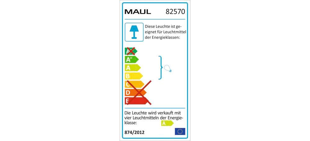 Energy saving standard lamp MAULcentauri, dimmable, H 1900 mm