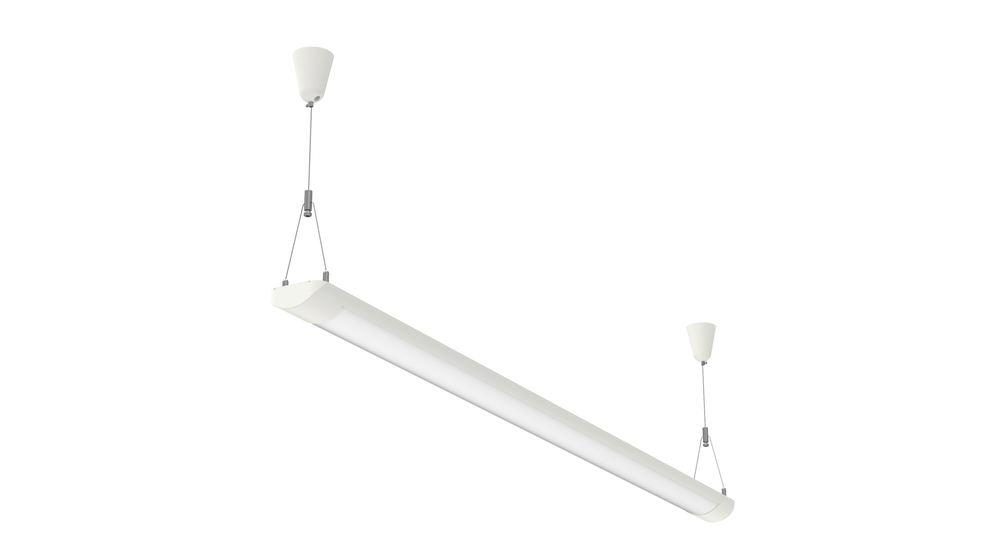 LED pendant and ceiling light MAULstart, 35 W, W 120 cm