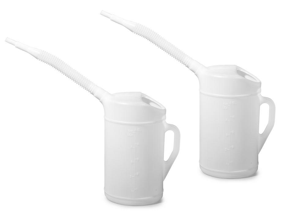 Measuring jug in PE with flexible spout, scale, 5.0 litre volume - 1