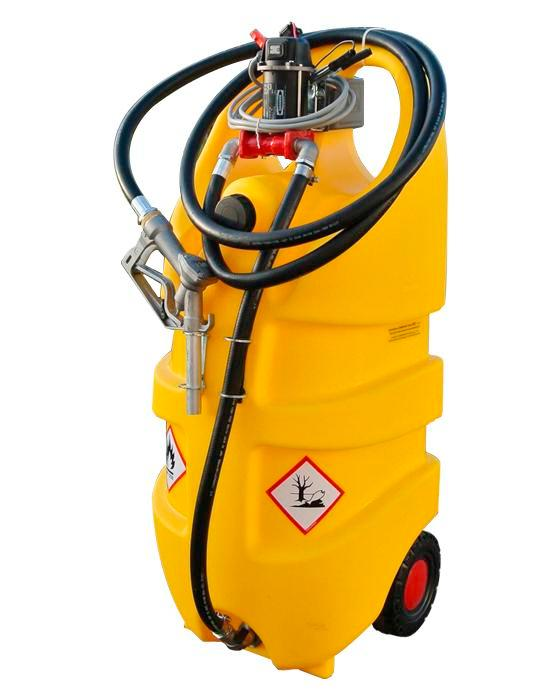 Mobile diesel fuel tank Model Caddy, 110 litre volume, with 24 V electric pump - 1