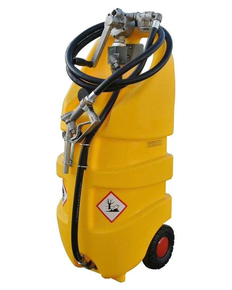 Mobile diesel fuel tank Model Caddy, 110 litre volume, with hand pump - 2