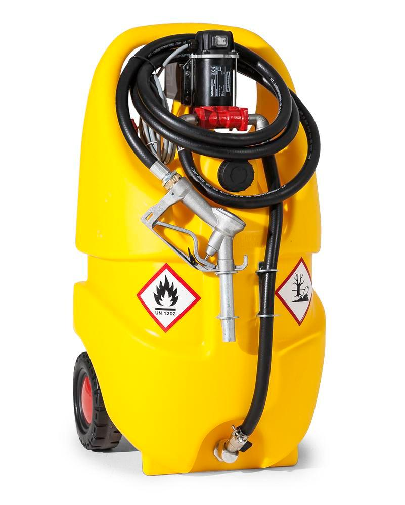 Mobile diesel fuel tank Model Caddy, 55 litre volume, with 24 V electric pump
