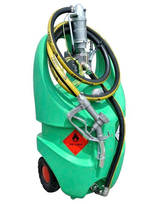 Mobile petrol fuel tank Model Caddy, 55 litre volume, with hand pump, ATEX - 1