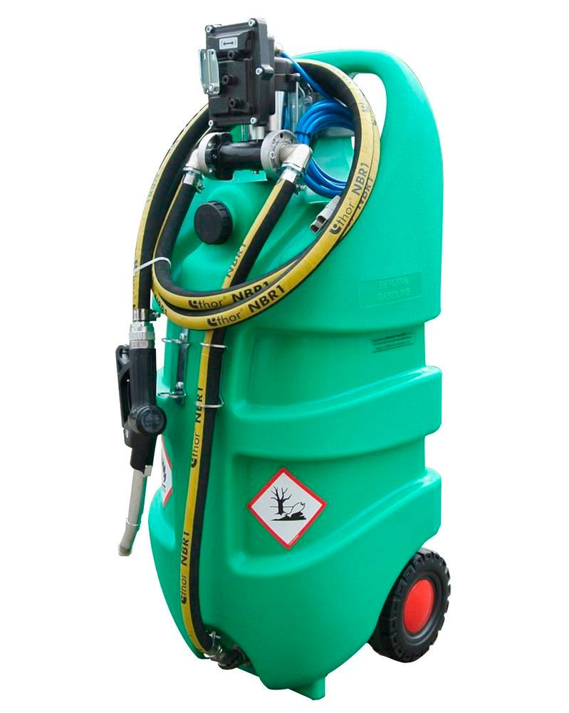 Mobile tank system type Caddy, petrol, 110 liter volume, with electric pump, ATEX - 1