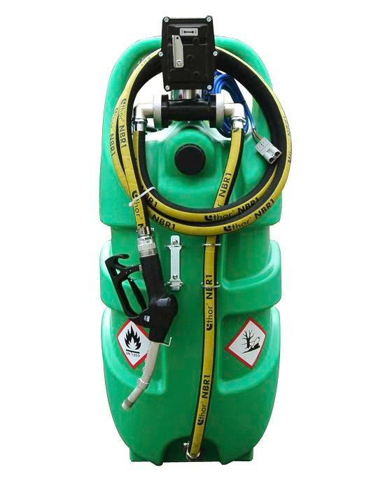 Mobile tank system type Caddy, petrol, 110 liter volume, with electric pump, ATEX